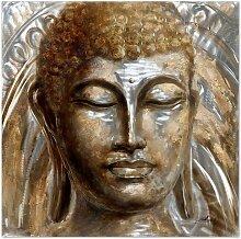 Wandbild Buddha, 100x100 cm
