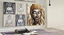 Wandbild Buddha Schlafzimmermöbel 100x100 cm,