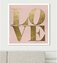 Wandbild Build on Love East Urban Home Format: