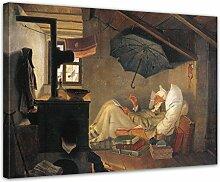 Wandbild Carl Spitzweg Der Arme Poet - 80x60cm