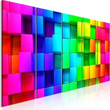 Wandbild - Colourful Cubes (5 Parts) Narrow