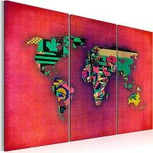 Wandbild - Die Welt ist mein - Triptychon