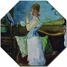 Wandbild Édouard Manet Nana - 50x50 cm Achteck -