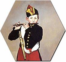 Wandbild Édouard Manet Pfeiffer - 40 cm Sechseck
