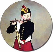Wandbild Édouard Manet Pfeiffer - 50 cm rund -