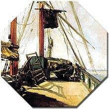 Wandbild Édouard Manet Schiffsdeck - 60x60 cm