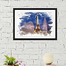 Wandbild Eiffelturm Paris East Urban Home Größe: