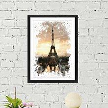 Wandbild Eiffelturm Paris ModernMoments Größe: