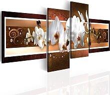 Wandbild - Elegante Orchideen in abstrakter