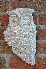Wandbild Eule,Wanddekoration,grau,31cm