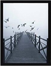 Wandbild Foggy Lake II 30x40cm, 30 × 40 cm