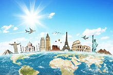 Wandbild Foto-Tapete Sehenswürdigkeiten der Welt