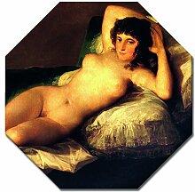 Wandbild Francisco de Goya Die nackte Maja - 60x60