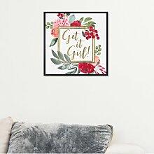 Wandbild Get It Girl quadratisch East Urban Home