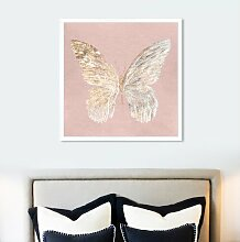 Wandbild Goldener Schmetterling East Urban Home