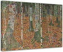 Wandbild Gustav Klimt Birkenwald - 70x50cm quer -
