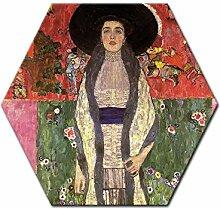 Wandbild Gustav Klimt Portrait der Adele