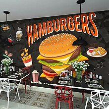 Wandbild Hamburger gebratenes Huhn Fast Food