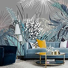 Wandbild Handgemalte Retro tropische Pflanze
