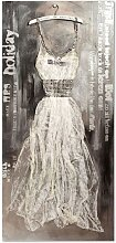 Wandbild hellgrau, 70x150 cm
