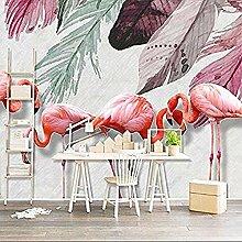 Wandbild Kleiner Rosa Vogel Einfaches Aquarell