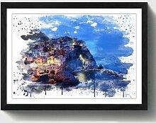 Wandbild Landschaft Cinque Terre Italien