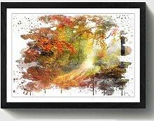 Wandbild Landschaft Herbstwald ModernMoments