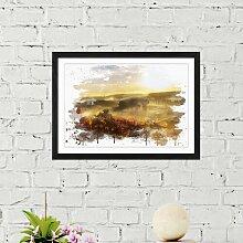Wandbild Landschaft im Sonnenaufgang ModernMoments