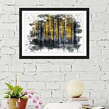 Wandbild Landschaft Sonnenlicht im Wald