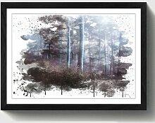 Wandbild Landschaft Stiller Wald ModernMoments