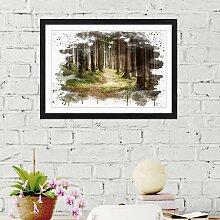 Wandbild Landschaft Wald East Urban Home Größe: