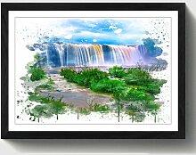 Wandbild Landschaft Wasserfall ModernMoments