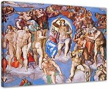 Wandbild Michelangelo Jüngstes Gericht Detail -