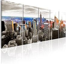 Wandbild - New York: Grey Tower Blocks