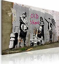 Wandbild - Old school (Banksy)