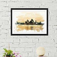 Wandbild Opernhaus Sydney im Hafen, Australien 8