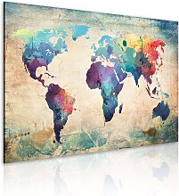 Wandbild - Regenbogen-Weltkarte
