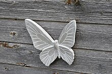Wandbild Schmetterling,Wanddekoration,grau,31cm+24cm,2er Se