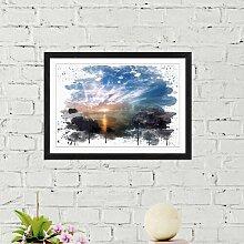 Wandbild Sonnenaufgang am Meer East Urban Home