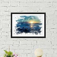 Wandbild Sonnenuntergang am Meer ModernMoments