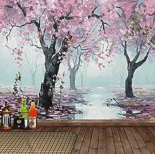 Wandbild Tapete 3D Blumen Ölgemälde Tapeten Für