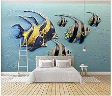 Wandbild Tapete3D Geprägte Seefisch Hintergrund