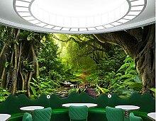 Wandbild Tapete 3D Natur Wald Tapete Thema
