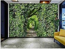 Wandbild Tapete 3D Pastoral Stil Pflanze Tapete