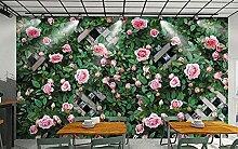 Wandbild Tapete 3D Rosenblume Dreidimensionale 3D