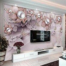 Wandbild Tapete 3D Schmuck Blumen Tv Hintergrund