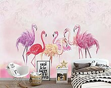 Wandbild Tapete Flamingo Rosa Tapete Kinderzimmer