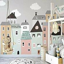Wandbild Tapete Für Kinderzimmer Kleines Haus