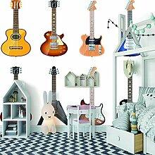Wandbild tapete GitarreDeko familie wohnzimmer