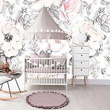 Wandbild Tapete Mädchen Schlafzimmer Blumen Baby